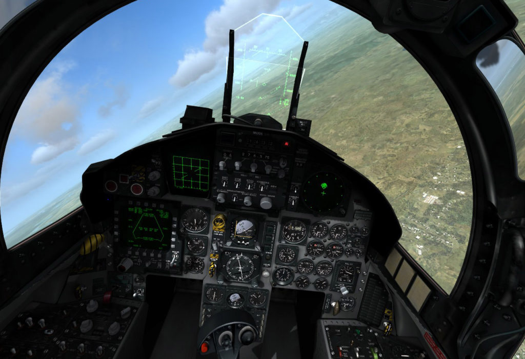 Cockpit-Screenshot aus DCS World