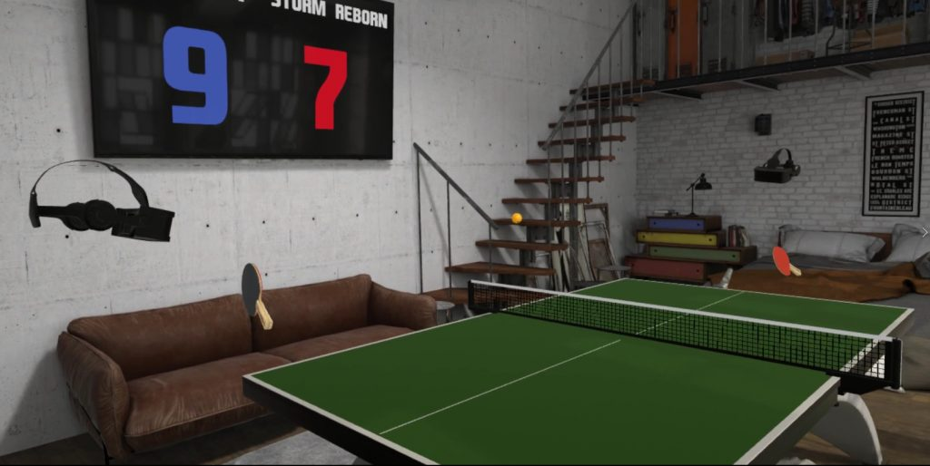 Eleven Tabletennis VR Screenshot
