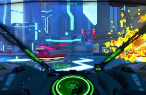 Battlezone-Screenshot aus der Cockpit-Perspektive
