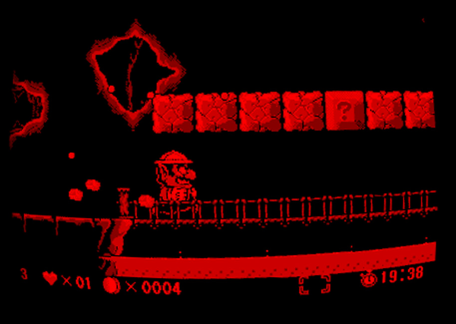 Screenshot aus Wario Land für Virtual Boy